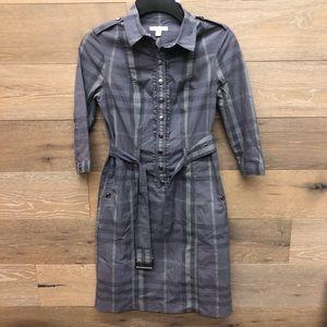 Burberry Plaid Belted Shirt Dress
